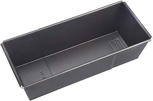 Zenker Kastenform ausziehbar (20 - 35 cm x 11,5 cm), Königskuchenform für saftige Kuchen, verstellbar & beschichtet, Menge: 1 Stück