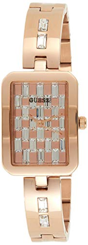 GUESS Women's Quartz Watch with Stainless Steel Strap, Rose Gold, 12 (Model: GW0102L3)