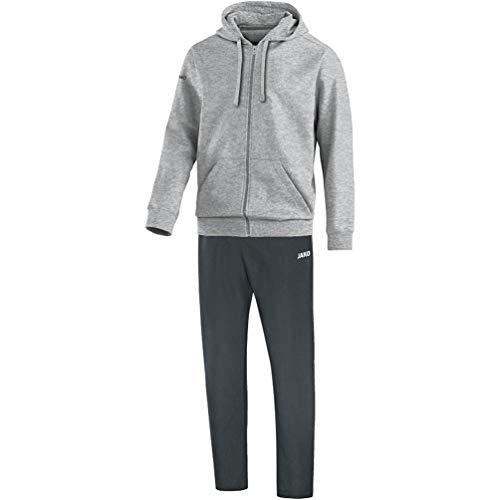 JAKO herrlag med huva joggingdräkt fritid Ljunggrå 3XL