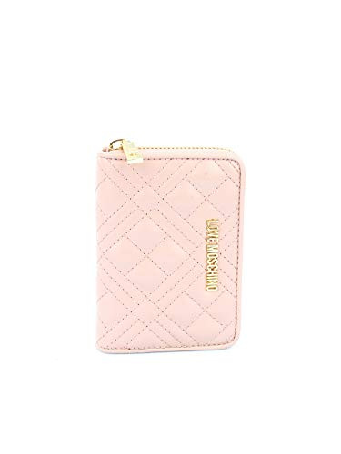Love Moschino Moschino Damen gesteppter Reißverschluss um die Brieftasche One Size Rosa