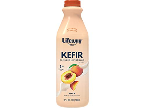 Lifeway Probiotic Low Fat Peach Kefir, 32 Ounce -- 6 per case.
