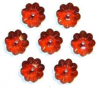 Steven_store SCM367 Red Magma 10mm Marguerite Lochrose Flower Swarovski Crystal Beads 12pc Making Beading Beaded Necklaces Yoga Bracelets