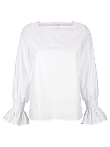 Alba Moda Damen Bluse Weiß 36 Kunstfaser