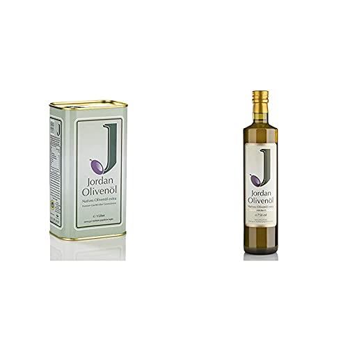 Jordan Olivenöl - Natives Olivenöl extra (1 l) & Natives extra, 1er Pack (1 x 750 ml)