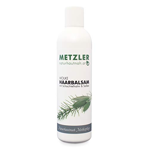 METZLER Molke Haarbalsam mit Schachtelhalm und Salbei - wirksame Haarkur bei strapaziertem Haar, bei Spliss, Färbung und Tönung, extrem ergiebig, 250 g