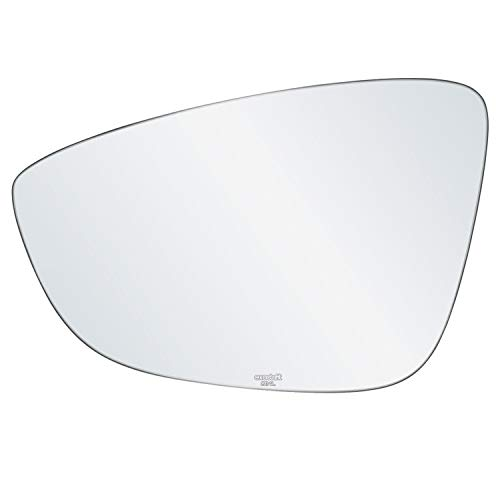 X AUTOHAUX Mirror Glass Heated with Backing Plate Driver Side Left Side Rear View Mirror Glass for Volkswagen Passat CC