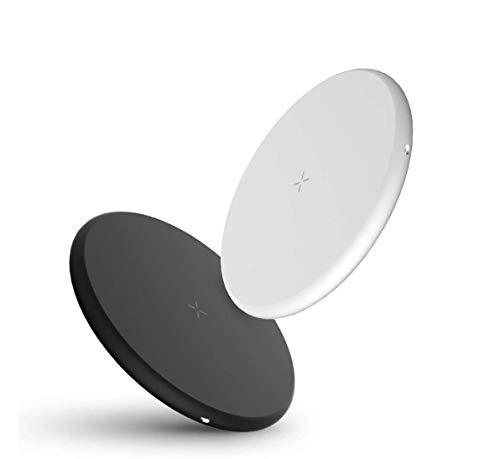 ProCharge Cargador Inalámbrico Rápido 10W Qi Base Carga Rápida Quick Charge 3.0 2021 con Detector de Seguridad para iPhone, Samsung, Huaweii [Color Blanco]