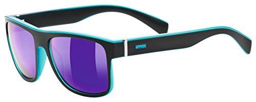 Uvex Unisex-Erwachsene lgl 21 Sportsonnenbrille, Black Mat Blue, Einheitsgröße