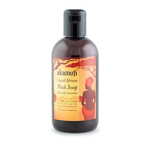 Akamuti Liquid African Black Soap 250ml unscented X 1 by Akamuti