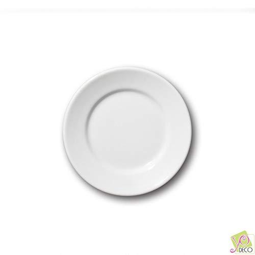 Petite assiette porcelaine blanche - D 17 cm - Tivoli