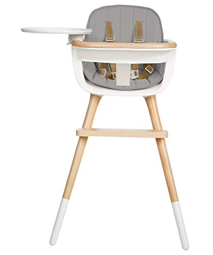 Review Of Micuna OVO Max Luxe Convertible High Chair with Leather Strap with Fabric Pad (Grey)