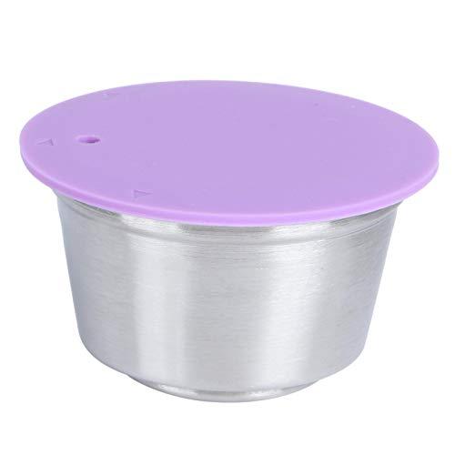 Omabeta Taza de cápsula de café Recargable Reutilizable de Acero Inoxidable Apta para cafetera Dolce Gusto Juego de cápsulas de café para Taza de Filtro para cafetera(Púrpura)