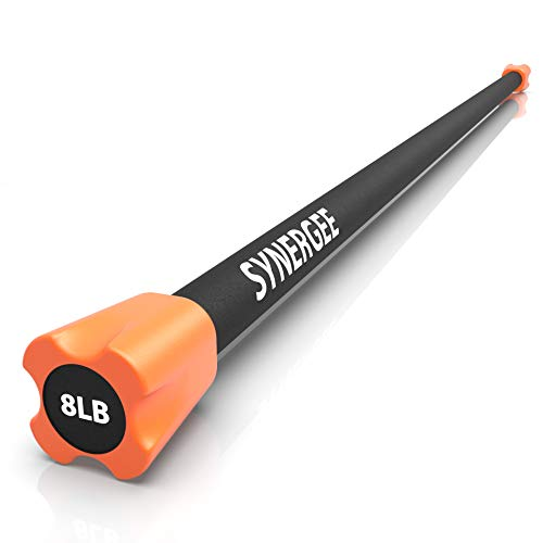 Synergee Workout Bar Weight Bar - 8lb Weights Padded Weighted Bars – Body Toning Exercise Bar, Strength & Condition