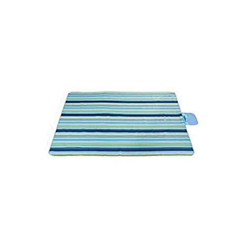 YFFSS Couverture Picnic, Couverture de Pique-Nique Rayures Bleues Oxford Tissu Résistant À l'eau Résistant Sauvegarde Voyage Tapis de Pique-Nique for Camping Randonnée Voyage