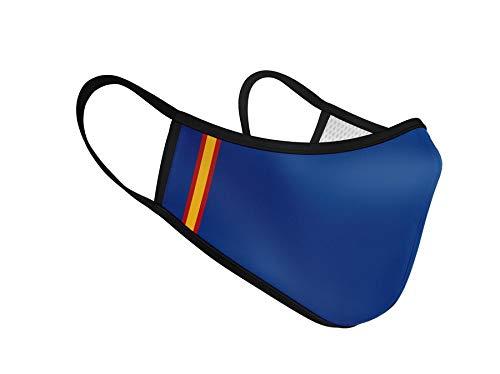 Mascarilla de Tela Homologada Reutilizable Bandera de España Vertical - Azul