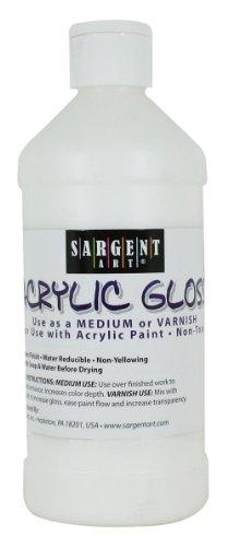 Sargent Art 22-8808 16-Ounce Acrylic Gloss and Varnish