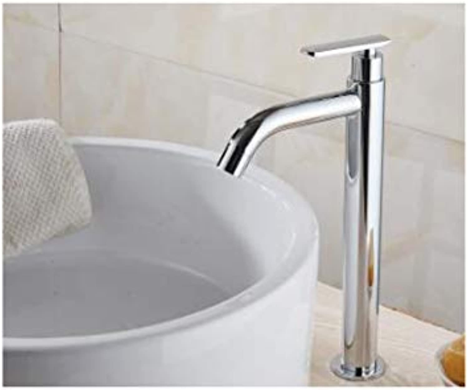 Single Cold Basin Faucet Bathroom Faucet Basin Mixer Bathroom Sink Faucet Tall Chrome Brass Faucet For Cold Water E