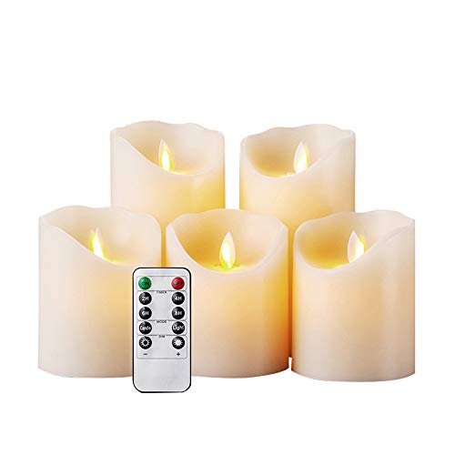 RIGTMAL Flameless LED Candle Light Bright Flickering Bulb Battery Operated Tea Light with Realistic Flames Fake Candle for Birthday/Wedding/Christmas