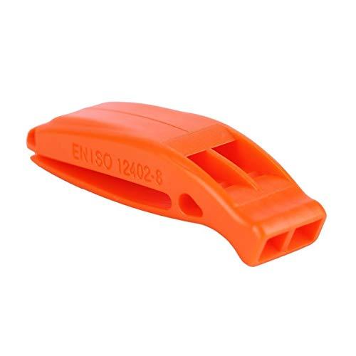 EdBerk74 Durable Ligero No corrosivo Portátil Supervivencia al Aire Libre Rescate Emergencia Plástico Fuerte Silbato con Clip Incorporado