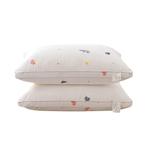 LYUN Almohada de Almohada de Almohada de Almohada de Almohada de Plumas de algodón para la protección del Vertebral para Dormir Reduce el Dolor (Color : 2 Pack)