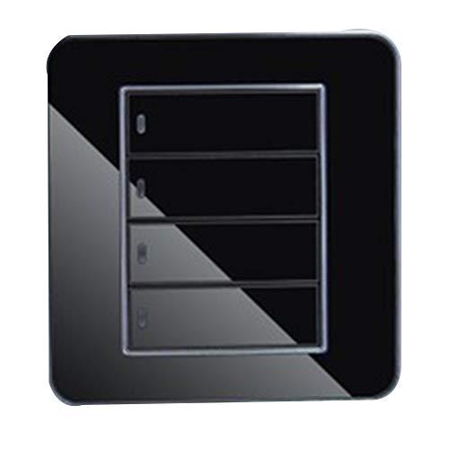 Rocita Cristal Negro Panel de Espejo Luz LED Controlador de Socket LED...