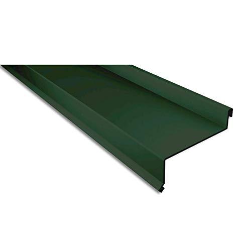 Sohlbank | Kantteil | Material Aluminium | Stärke 0,70 mm | Beschichtung 25 µm | Farbe Moosgrün