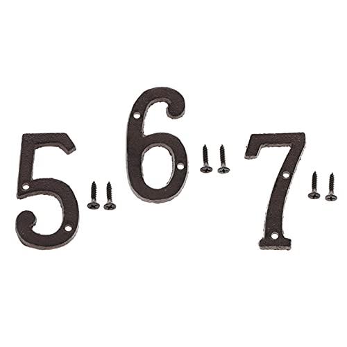 MagiDeal 3 Piezas Puerta Golpeó Signo Letra DIY Número 5,6,7