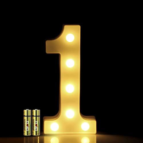 HONPHIERR Numeros LED Letras Luminosas Decorativas DecoracioN