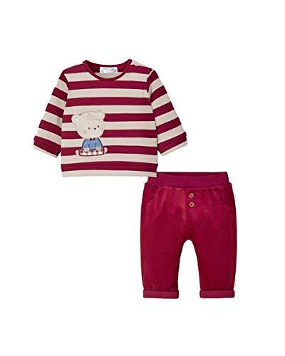 Conjunto de pantalón de tela para niña Newborn rojo 70 cm(4-6 meses)