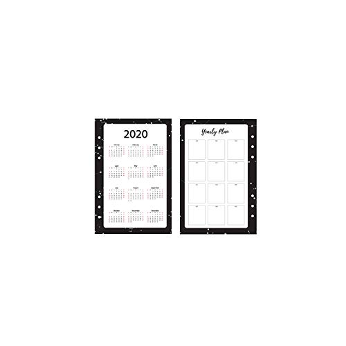 Beste verkoper 2020 jaar kalender spiraal notebook vulpapier A5A6 maandelijkse planner agenda organisator school schattig briefpapier A5 2020 divider Starry