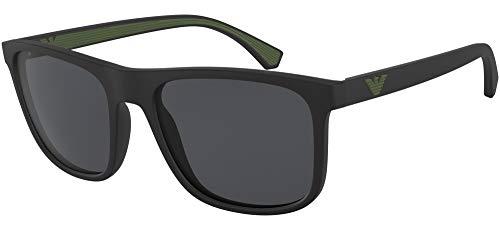 Emporio Armani 0EA4129 Gafas de sol, Matte Black, 56 para Hombre
