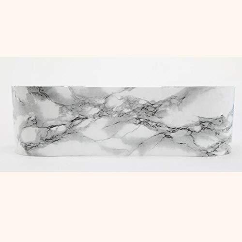 Papel pintado impermeable Atenas negro adhesivo adhesivo removible cenefa decorativa para cocina, baño, salón, azulejos 10 x 500 cm