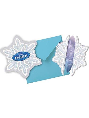 Frozen / Die Eiskönigin 6 Einladungskarten inkl. Umschlag