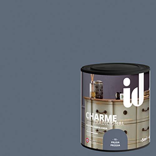 Pintura efecto empolvado Charme, es una pintura multisoporte lavable mate. - 500 ml- (Prusia)