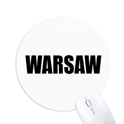 Warszawa Polska nazwa miasta okrągła antypoślizgowa gumowa podkładka pod mysz gra biuro podkładka pod mysz prezent