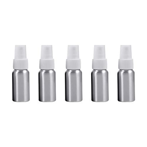 ZHANGJIALI Container-Flaschen Sprühflaschen 5 PCS Mehrweg-Glas feinen Nebel Atomizers Aluminium-Flasche, 30 ml (Schwarz) (Color : White)