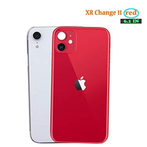 Modifiziertes Telefon Rückfilmkameraobjektiv Sekunden Ändern des Deckfilms Gefälschte Kamera für iPhone XR Wechseln Sie zu iPhone 11 Zurück Bildschirmschutz HD-Objektivschutz (XR-Änderung 11 Rot)