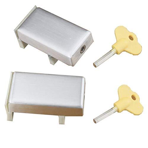 De calidad superior 2PCS puertas correderas y cerraduras de ventana de aleación de aluminio de plástico de acero ventana de límite de seguridad de bloqueo de protección de seguridad de los niños