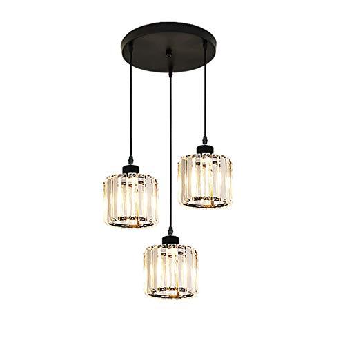 MAATCHH Candelabro Sencillo y Moderno de Tres Cabeza de la lámpara por lámpara de Mesa Comedor Utilizado en hogares,Industria (Color : Tri-Color Light, Size : One Size)