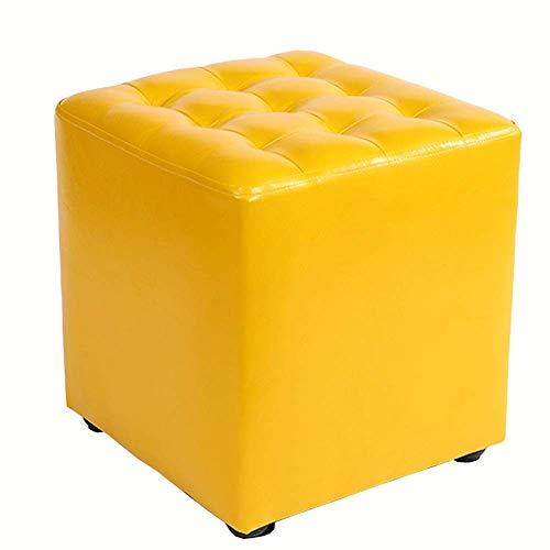JIEER-C slaapzak, voetensteun, zitzak, PU-leer, wikkelbank, voor volwassenen, massief hout, structuur 32 x 32 x 35 cm (kleur: wit) Geel.
