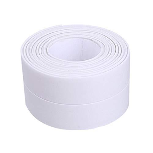 Nieuwe 3.2mx22mm 38mm Badkamer Douchebak Bad Afdichtstrip Tape Wit Zelfklevende Waterdichte Muursticker voor Badkamer Keuken, 1 wit 38mm, Frankrijk