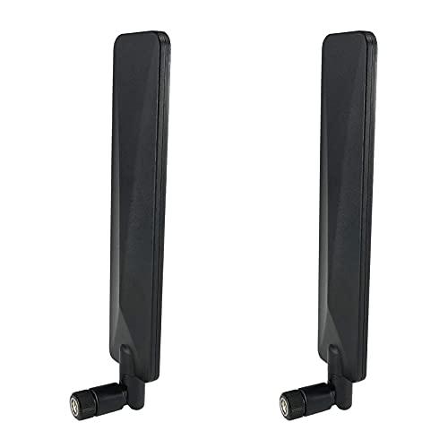 KU Syang 3G / 4G LTE Banda Ancha Universal 5 DBi Antena de Paleta Plana Omnidireccional de Alta Ganancia Antena WiFi Plegable Paquete de 2