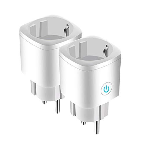 Enchufe inteligente Tuya 16A, el enchufe WiFi se puede usar con Alexa y la asistencia de Google Home, control remoto de la aplicación de monitoreo de la batería y el temporizador (enchufe de la UE)