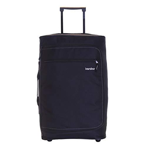 Karabar Cabin Carry-on Hand Luggage Suitcase Bag Super Lightweight 55 cm 1.5 kg 40 litres with 2 Wheels, Verona Black