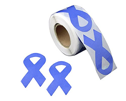 250 Stomach Cancer Awareness Periwinkle Ribbon Stickers - Large Ribbon (1 Roll)