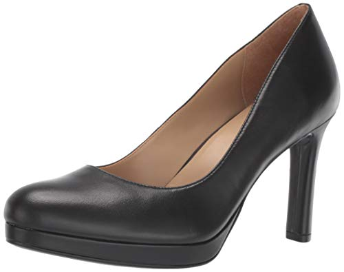 Naturalizer womens Teresa Pump, Black Leather, 8 US