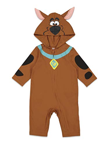 Scooby-Doo Baby Boys Hooded Costume Coverall Brown 12-18 Months