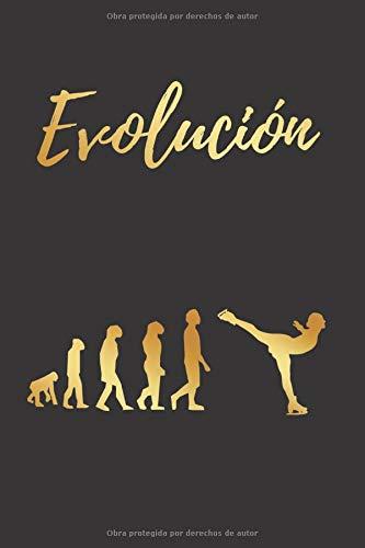 EVOLUCIÓN: CUADERNO LINEADO | Diario, Cuaderno de Notas, Apuntes o Agenda | Regalo Original para los Amantes del Patinaje artístico sobre hielo | Mujer, niñas.