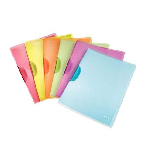 Leitz 41760099 Klemmmappe ColorClip Rainbow, A4, PP, 6er Packung, sortiert