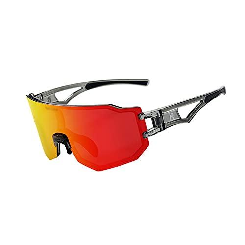 YYLI Gafas De Sol Fotocromáticas, Protección UV400 Gafas De Sol Polarizadas con 3 Lentes Intercambiables, Hombre Y Mujer Ciclismo Gafas para Bicicleta Running Deportes,D